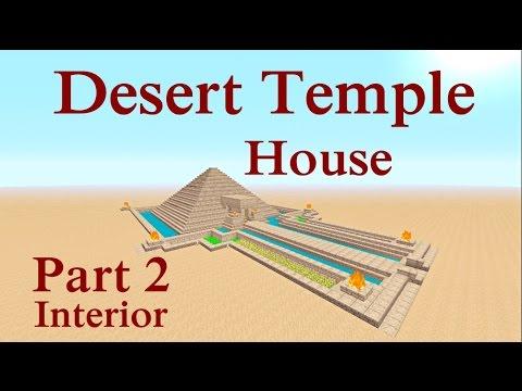 Minecraft Tutorial : Desert Temple House Part 2 Interior
