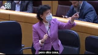 Celaá responde en el Senado: