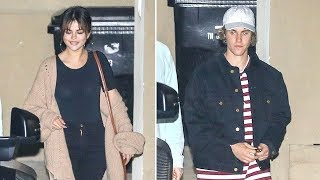 Selena Gomez And Justin Bieber Attend Mass In Hollywood
