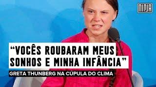 """""""Vocês roubaram meus sonhos e minha infância"""" — Greta Thunberg discursa na Cúpula do Clima da ONU"""