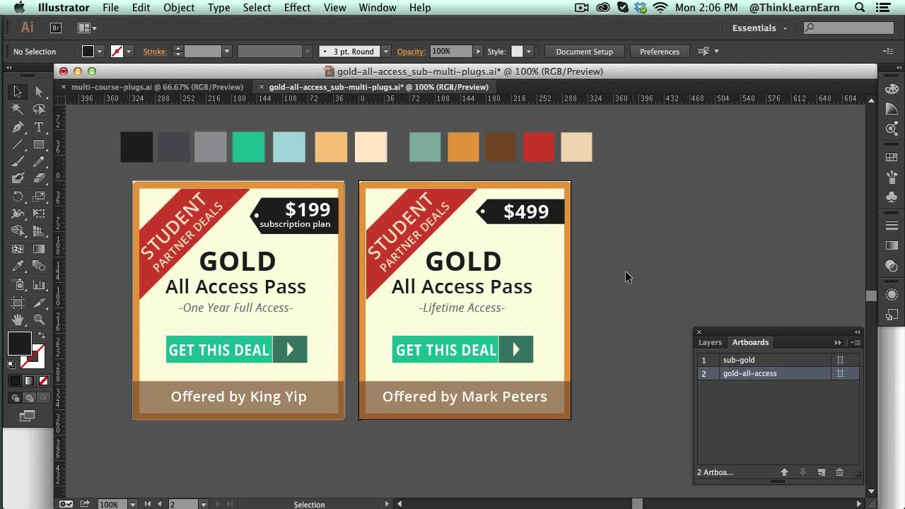 Design large banner in illustrator - How To Use Adobe Illustrator Export Print And Banner Ads Via Art Boards Online Video Lesson