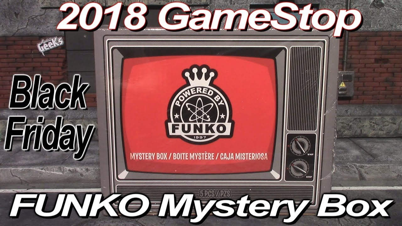 2018 Gamestop Exclusive Black Friday Funko Mystery Box