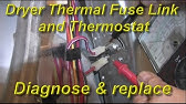 How to Replace a Kenmore Electric Dryer Thermal Fuse - YouTube Elite Kenmore Dryer Wiring Diagram on