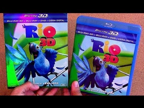 RIO blu ray unboxing review Import blu-ray bluray 3D