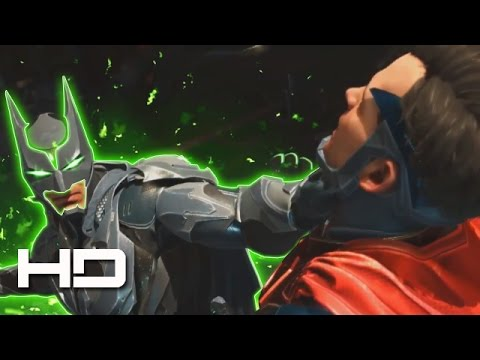 Thumbnail: Batman's Kryptonite-Suit Destroys Superman Full Fight 1080p HD | INJUSTICE 2 Good ENDING Cutscene