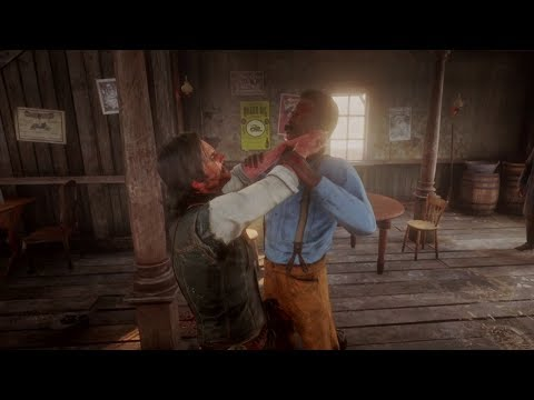 Red Dead Redemption 2 – Saloon Fights (Euphoria Physics Compilation)