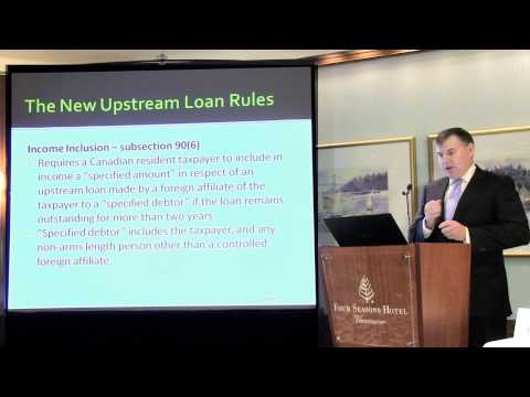Tax Issues with Upstream Loans from Foreign Affiliates - Brad Allen - Davidson & Company