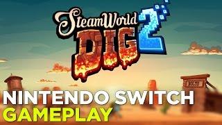 SteamWorld Dig 2 — Nintendo Switch Demo + Boss Fight Gameplay @ GDC 2017