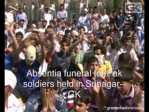 Absentia funeral for Pak soldiers held in Srinagar