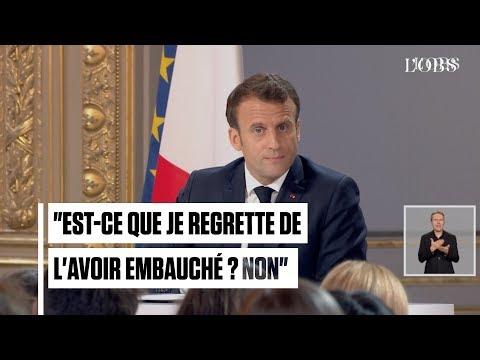 Le long silence de Macron avant de répondre sur Benalla