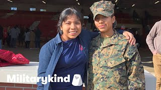 Marine surprises younger sister at graduation | Militarykind