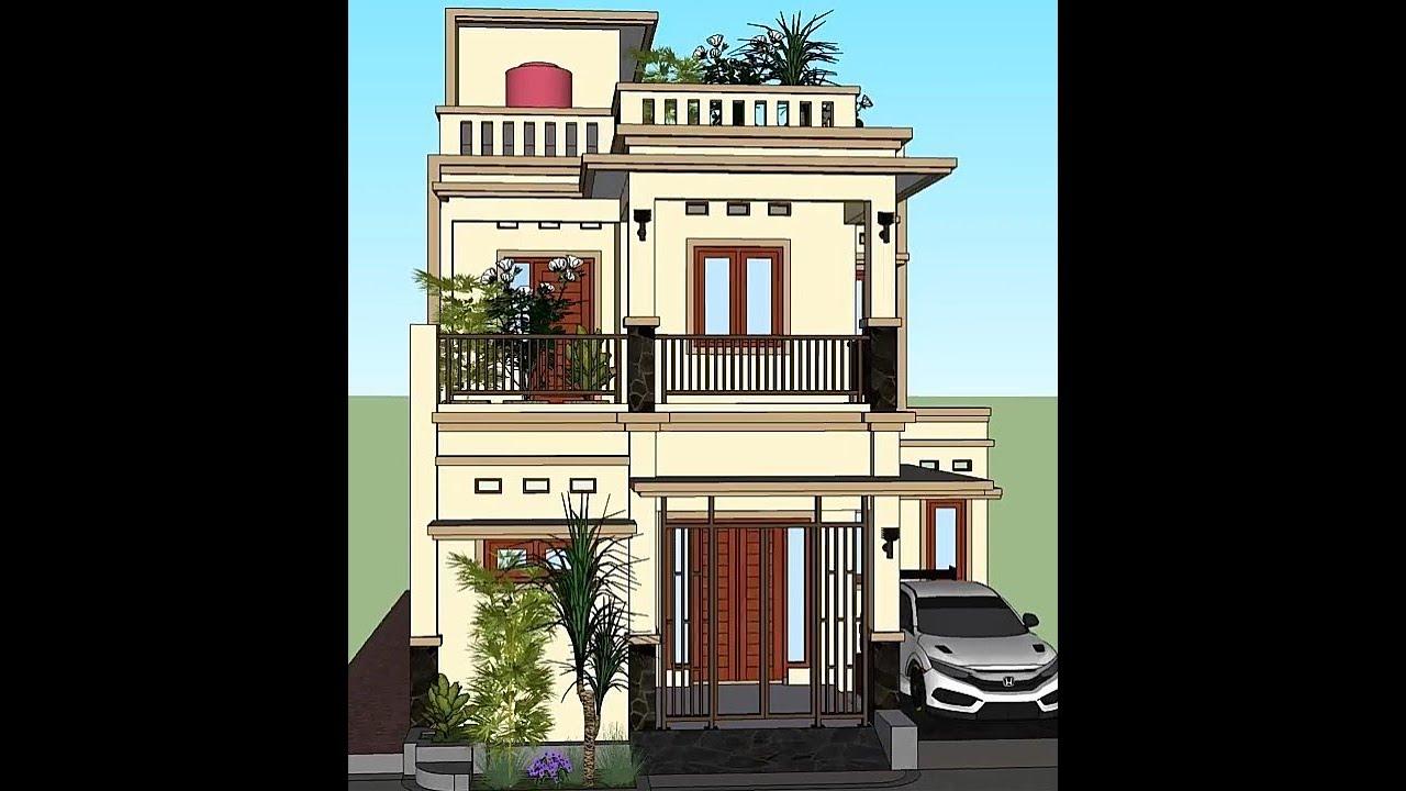 Rumah Tinggal Minimalis Atap Full Dak Beton Info Jasa Desain Wa