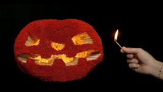 How to Make Amazing Halloween Pumpkin from 100,000 Matches