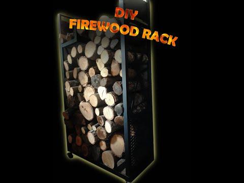 DIY Indoor firewood rack