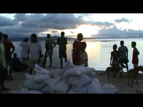Fiji Emergency Food Aid arriving on Rabi after the Island was Devestated by Cyclone Tomas