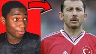 Young Football Fan Reacts To Sergen Yalçin Skills (Turkish Legend)