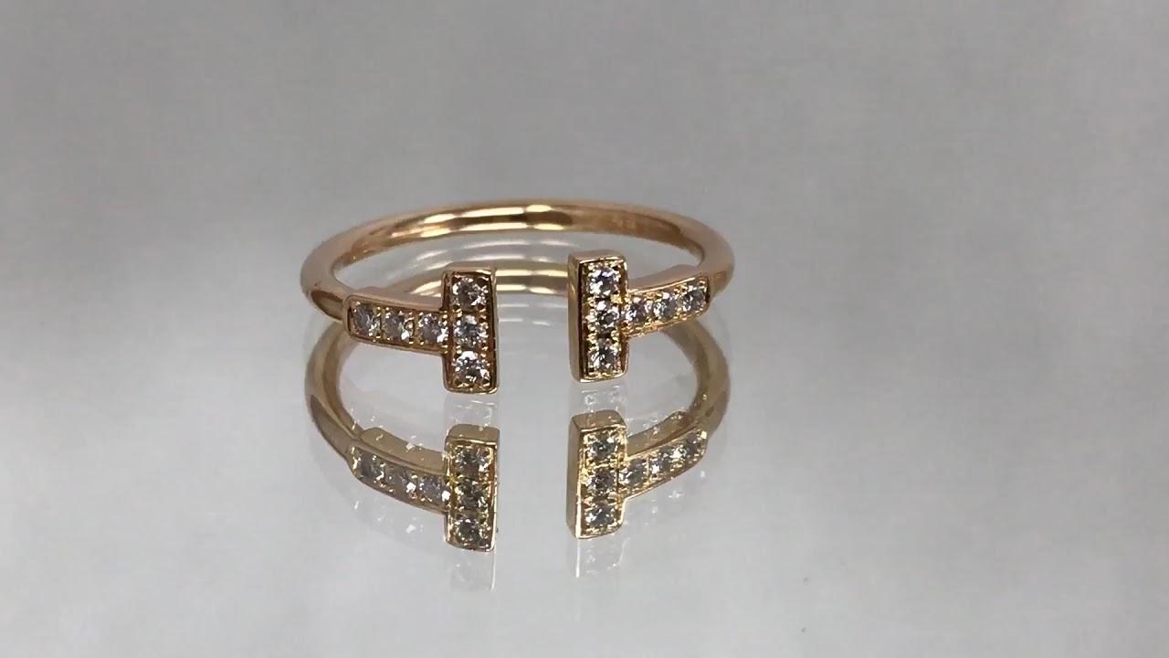 """0ae31608e Tiffany & Co. 18K Rose Gold & Diamond """"Tiffany T Wire Ring"""" - YouTube"""