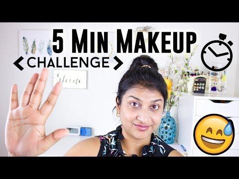 5 Minute Makeup Challenge || Easy Everyday Look/ Back To School Makeup Tutorial