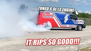 homepage tile video photo for We Turned a 220,000 Mile A/C Work Van Into a BURNOUT MONSTER!!! (Freedom Delivery Van)