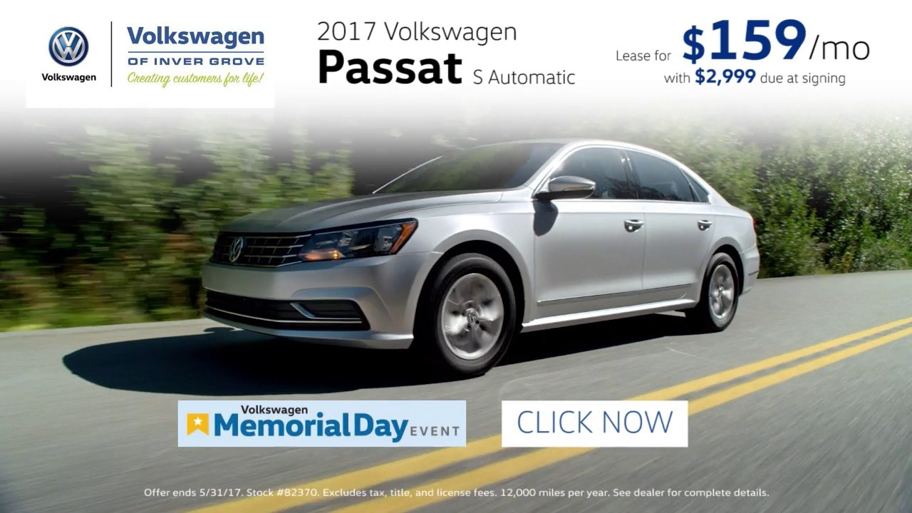 Vw Dealership Mn >> 2017 Volkswagen Passat 159 Mo Lease Available Saint Paul Mn Minneapolis Mn