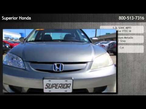 2005 Honda Civic Continuously Variable Transmission Hybrid Sedan UL   Harvey
