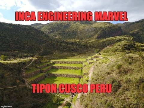 Inca Engineering Marvel: Tipon Near Cusco Peru