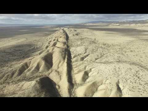Flying over the San Andreas Fault in California