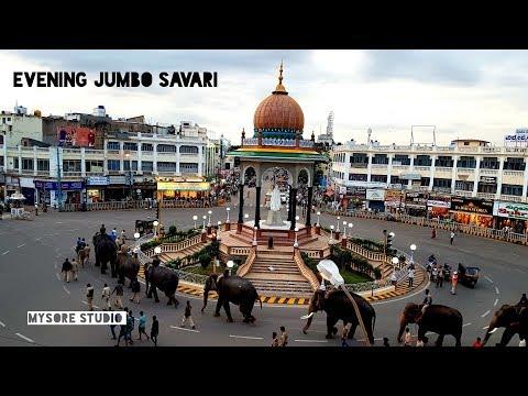 Dasara Elephants Arjuna Evening Jumbo Savari (22Sept2019) Mysore Karnataka Tourism
