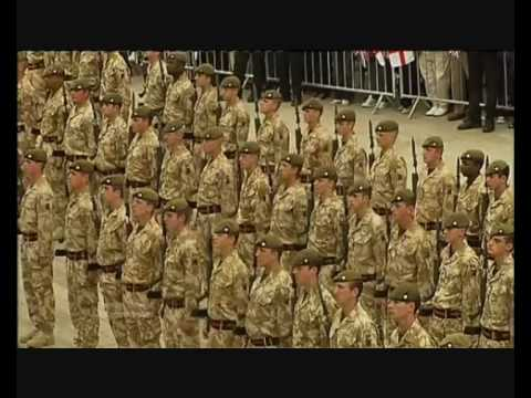 Muslim Extremists Abuse Royal Anglian Troops After Afghanistan Return, Barking- London  2010