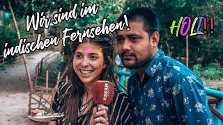HOLI FESTIVAL in MAJULI INDIEN - Wir sind im Fernsehen l Whats Next Weltreise 2019