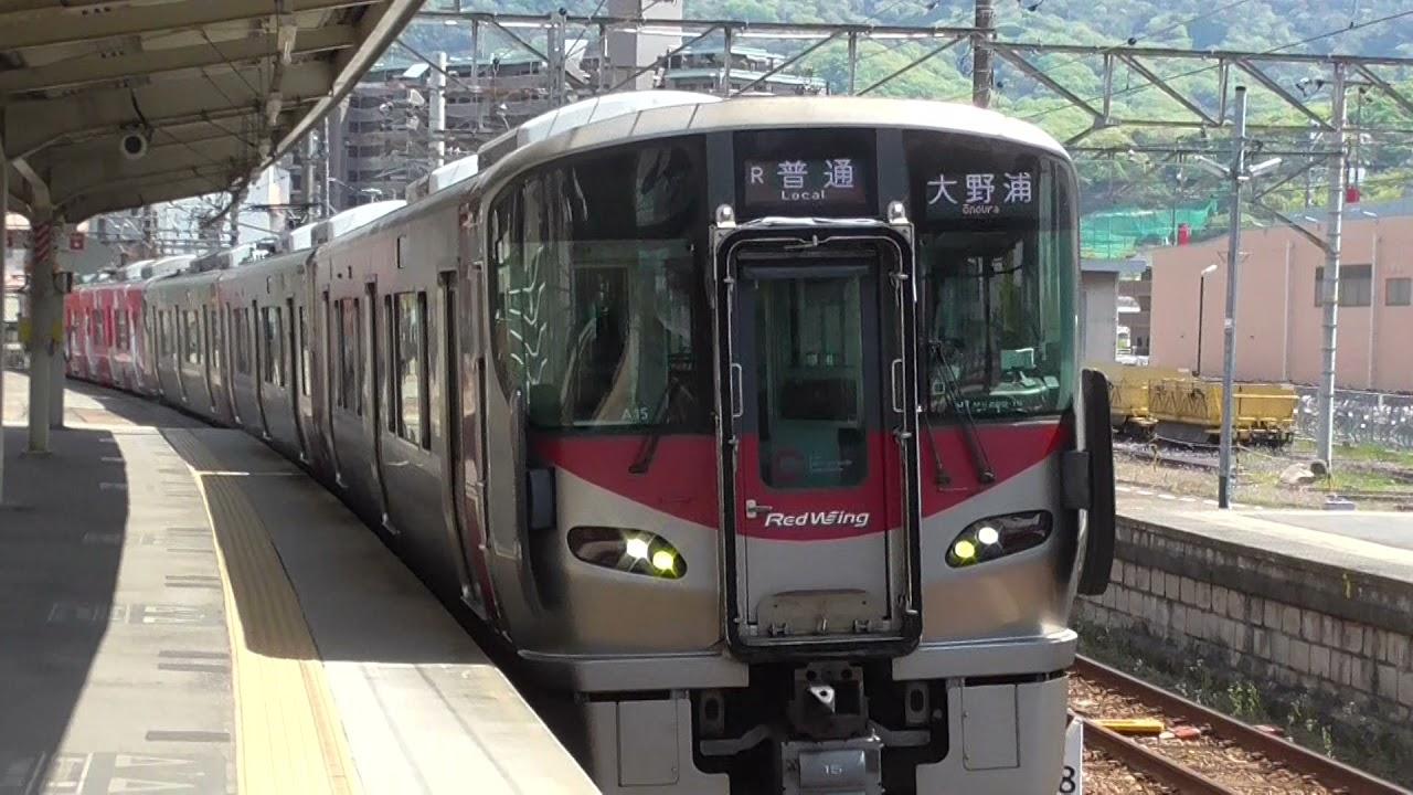 海田市駅 接近メロディ 227系 Red Wing カープ応援ラッピングトレイン2021 到着