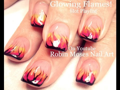 No Water Needed - Marble Flames Nail Art Tutorial