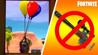 Fortnite-CONFIRMED EVENT, 3 WEAPONS REMOVED et BALLOONS (fr) Patch 6.21