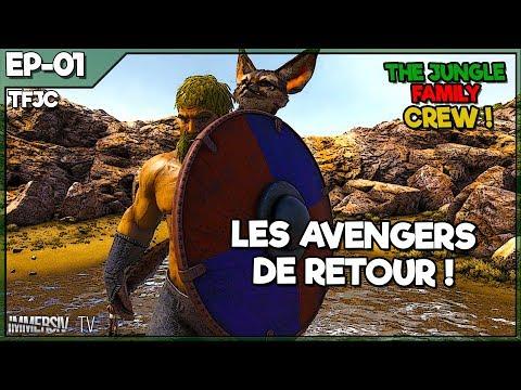 Ark Survival Evolved PvP PC FR - LES AVENGERS DE RETOUR ! - TJFC #01