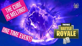THE FORTNITE CUBE IS MELTING! Season 6 one time event! The Final Stage for the Cube Event!
