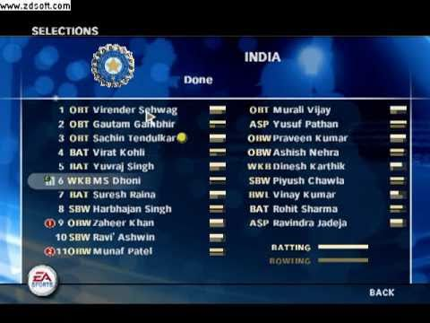 ea sports cricket 2009 game  free