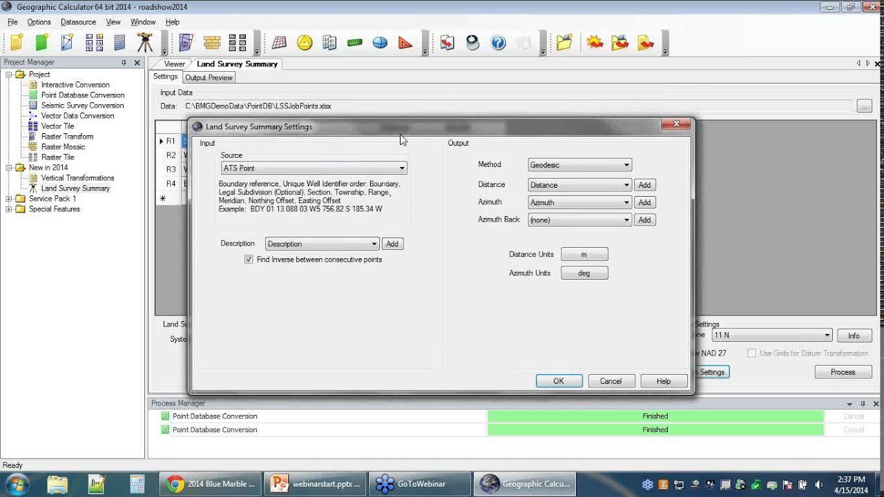 Geographic Calculator 2014 - Canadian Dominion Land Survey tools
