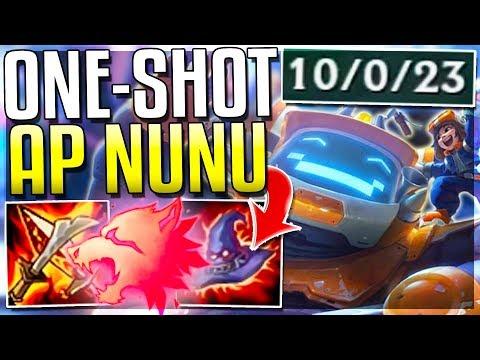 CAN AP NUNU REWORK STILL ONE-SHOT???? Nunu  AP Mid Gameplay  League of Legends