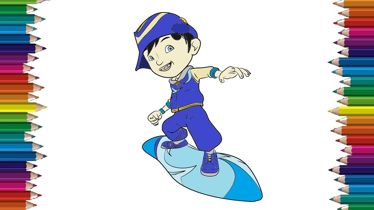 How To Draw Boboiboy Cyclone From Boboiboy Galaxy Coloring Pages