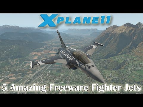 X-plane 11] 5 Amazing Aircraft (Fighters) for X-plane (Part 4) - YouTube