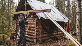 Build log cabin. Making a toilet, plank bed and table. Part V. Forest Film