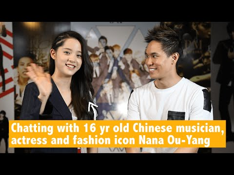Chatting with 16 yr old Chinese musician/actress/fashion icon Nana Ou-Yang