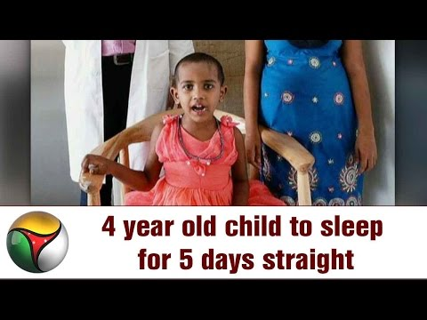 4 year old child to sleep for 5 days straight