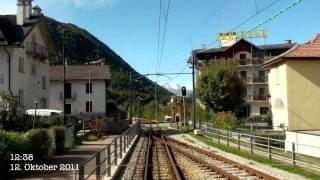 Centovalli railway drivers view 2/3 Locarno-Domodossola チェントヴァッリ鉄道