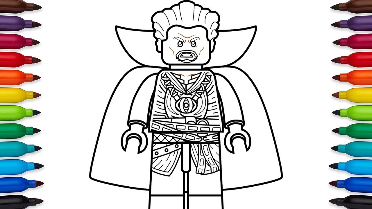 How To Draw Lego Doctor Strange Stephen Strange From