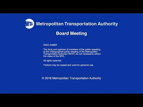 MTA Board - NYCT/Bus Committee Meeting - 01/22/2018
