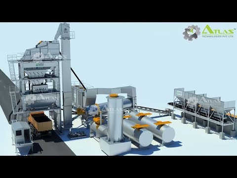 Asphalt Batching Plant 3D Video By Atlas Technologies Pvt. Ltd., India