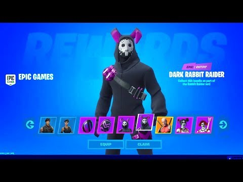 5 NEW FREE SKINS YOU CAN CLAIM NOW! Fortnite New Styles (Dark Rabbit Raider + Unmasked Deadpool)