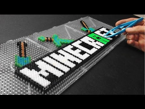 Perler Bead Designs Roblox Minecraft Logo Fanart Perler Beads 2017 Youtube
