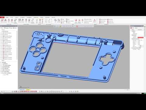 Nintendo DS case cover. 3D scanning + Reverse engineering. Example